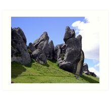 Castle Hill Rocks Art Print