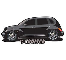 PT Cruiser - Black Photographic Print