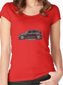 PT Cruiser - Black Women's Fitted Scoop T-Shirt