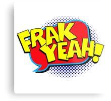 Funny Superhero comic word Frak Yeah! Metal Print