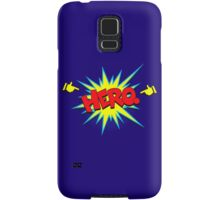 Funny Superhero comic word Hero Samsung Galaxy Case/Skin