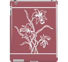 Marsala and White Floral Pattern iPad Case/Skin