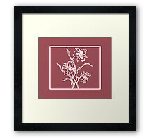 Marsala and White Floral Pattern Framed Print