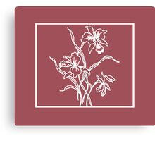 Marsala and White Floral Pattern Canvas Print