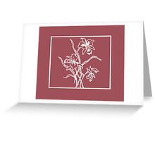 Marsala and White Floral Pattern Greeting Card