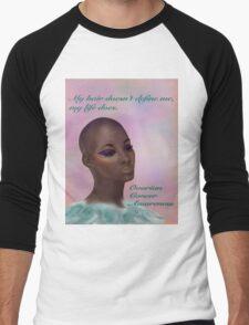 Ovarian Cancer Awareness Men's Baseball ¾ T-Shirt