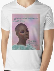 Ovarian Cancer Awareness Mens V-Neck T-Shirt