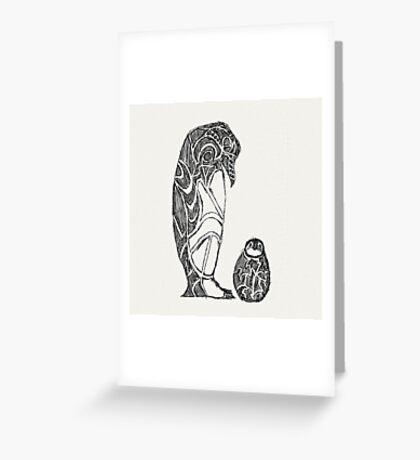 emperor penguin sketch Greeting Card
