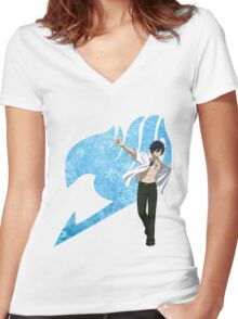 Gray Fairy Tail 2 Women's Fitted V-Neck T-Shirt