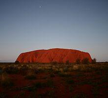 Nightfall at Uluru by Erland Howden