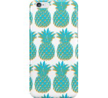 Blue & Orange Pineapple iPhone Case/Skin