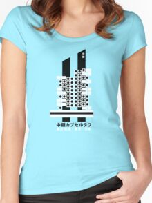 Capsule Tower Nagakin Kurokawa Architecture Tshirt Women's Fitted Scoop T-Shirt