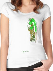 'Pia Croc' (Drag Racer Series) Women's Fitted Scoop T-Shirt