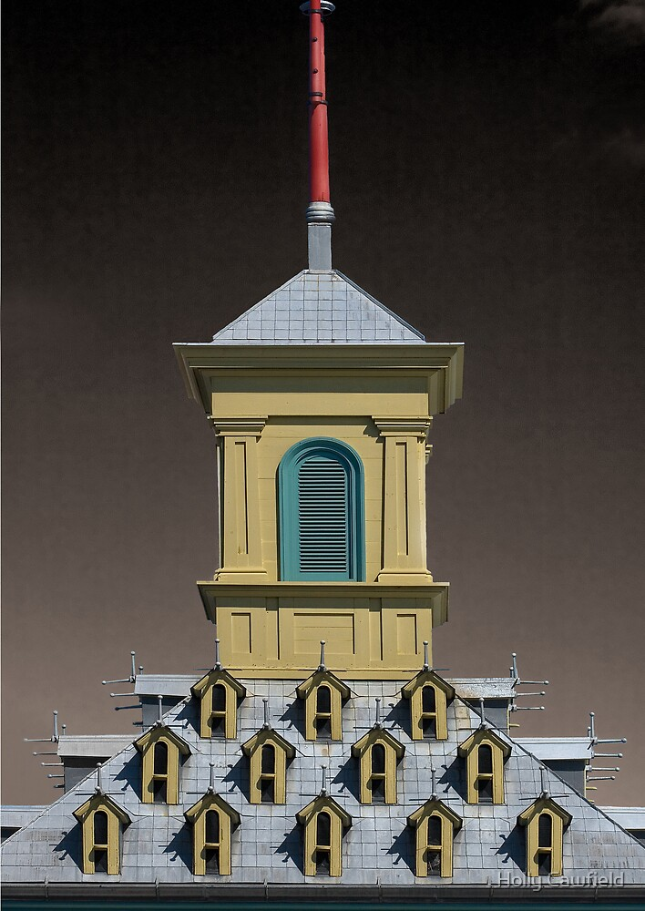 Gatehouse Roof, Dundurn Castle, Hamilton Ontario by Holly Cawfield