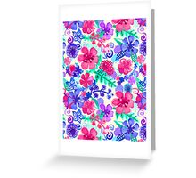 Fresh Watercolor Floral Pattern Greeting Card