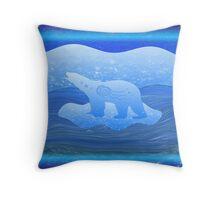 On Thin Ice Throw Pillow