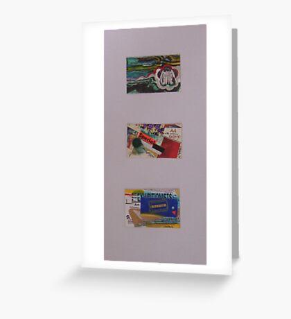 3x Miniatures Greeting Card
