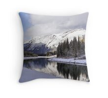 Spray Lakes Throw Pillow