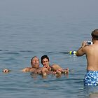 Dead Sea Bathing Israel by Moshe Cohen