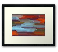 Colorful Painting Abstract Background Framed Print