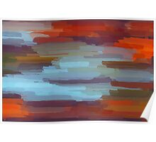 Colorful Painting Abstract Background Poster
