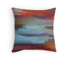 Colorful Painting Abstract Background Throw Pillow
