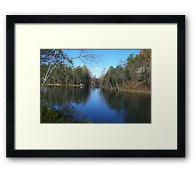 SOUTH HOLSTON DAM AT OUR CABIN Framed Print