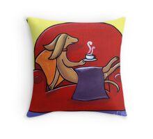 Coffee Break Time Throw Pillow
