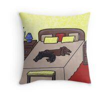 Sneaking a Nap Throw Pillow