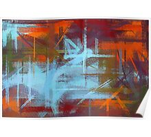 Colorful Painting Abstract Background #2 Poster