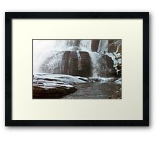 Frozen Base of Falls Framed Print