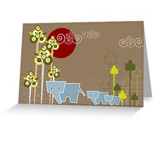 Ellie Family In The Forest Greeting Card