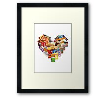 Junk Food Love Heart Framed Print