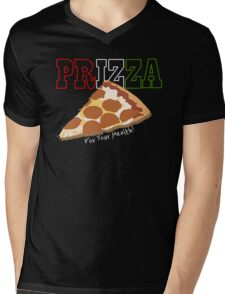 Prizza- For Your Health! (Dark) Mens V-Neck T-Shirt