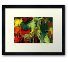 Colorful Painting Abstract Background #3 Framed Print