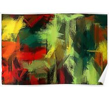 Colorful Painting Abstract Background #3 Poster