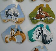 Hand painted equine fridge magnets in oils by louisegreen