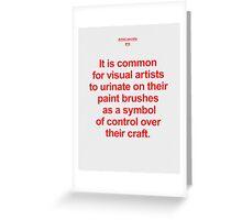 Artist Secret #14 Greeting Card