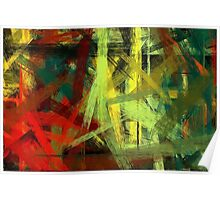 Colorful Painting Abstract Background #4 Poster