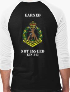 Earned Not Issued-Color Skippy , white text for dark shirts or jumpers Men's Baseball ¾ T-Shirt