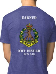 Earned Not Issued-Color Skippy , white text for dark shirts or jumpers Tri-blend T-Shirt