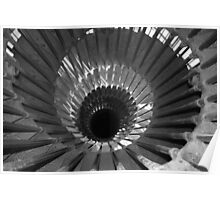 Stairs in Black and White Poster