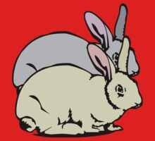 GREY RABBIT YELLOW RABBIT  T-Shirt