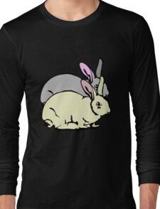 GREY RABBIT YELLOW RABBIT  Long Sleeve T-Shirt