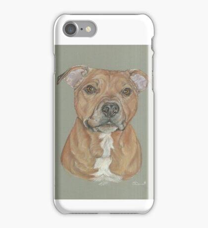 Terrier portrait in pastel iPhone Case/Skin