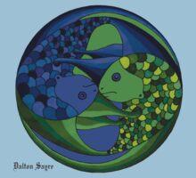 pisces yin yang by Dalton Sayre