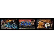 Graffiti Triptych Photographic Print