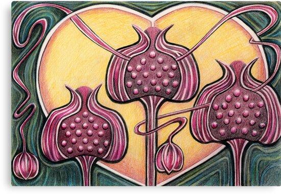 Pomegranates by Deborah Holman