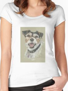 Terrier portrait Women's Fitted Scoop T-Shirt