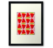 Juicy Watermelon Triangles Abstract Framed Print